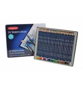 Derwent Coloured Pencils Watercolour Pencils Tin Pack 24