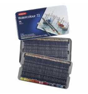 Derwent Coloured Pencils Watercolour Pencils Pack Tin 72