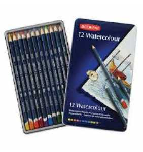 Derwent Coloured Pencils Watercolour Pencils Pack 12