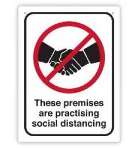 Social Distancing Premises Wall Sign